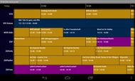 EPG (Elektronische Programm Guide) von DVBLink in der Android-Version (Bild: DVBLogic)