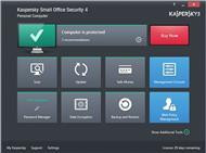 Dashboard von »Kaspersky Small Office Security 4« (Bild: Kaspersky Lab)