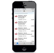 iPhone-Client der Filesharing-Lösung »DatAnywhere 2.5« (Bild: Varonis)