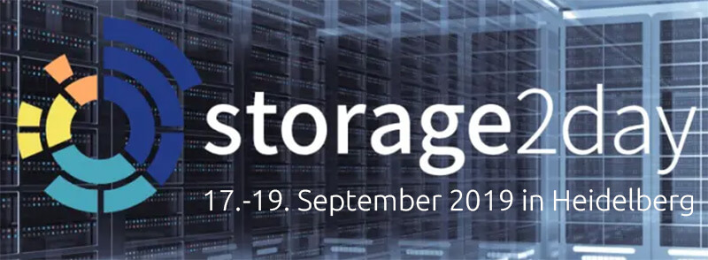 Premiere: Neue Konferenz Storage2Day am 17.-19. September in Heidelberg
